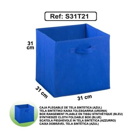 Casier en toile synthétique - Bleu