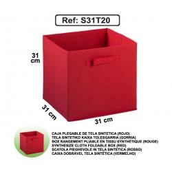 Casier en toile synthétique - Rouge