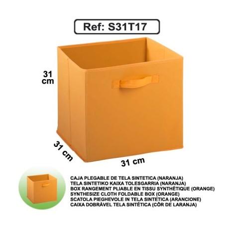 Casier en toile synthétique - Orange