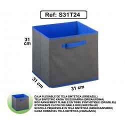 Casier en toile synthétique - Gris/Bleu