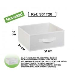 Casier 1/2 en toile synthétique - Blanc