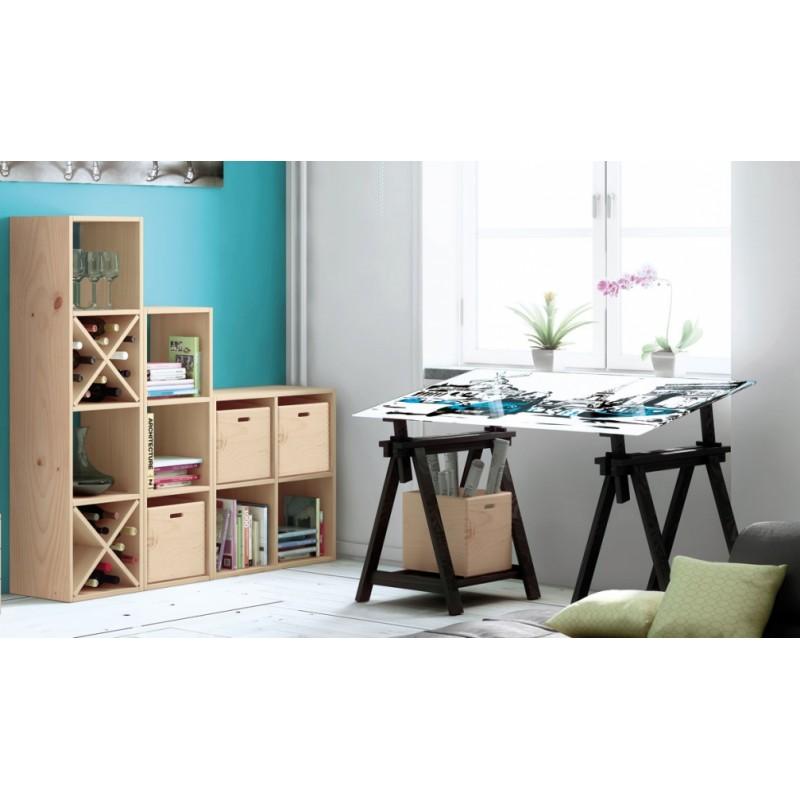 caisse en pin massif 30x30x30 espace decormat. Black Bedroom Furniture Sets. Home Design Ideas