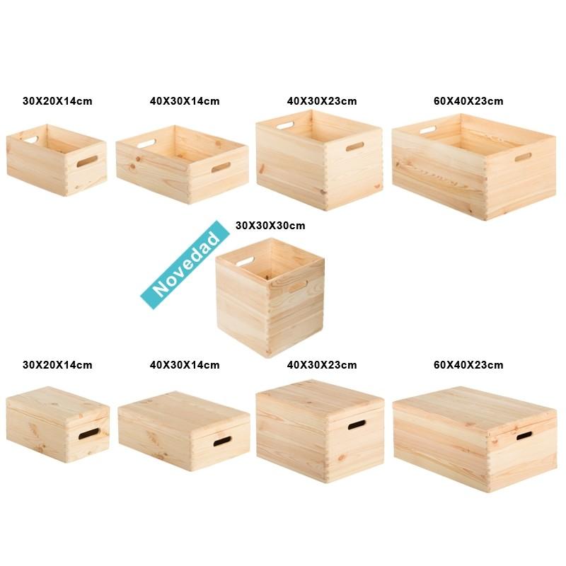 caisse en pin massif 30x20x14 espace decormat. Black Bedroom Furniture Sets. Home Design Ideas