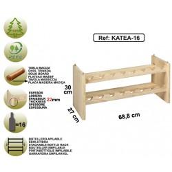 Range-bouteilles en pin massif - KATEA-16