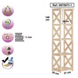 Étagère 4 cubes en pin massif - INFINITI-1