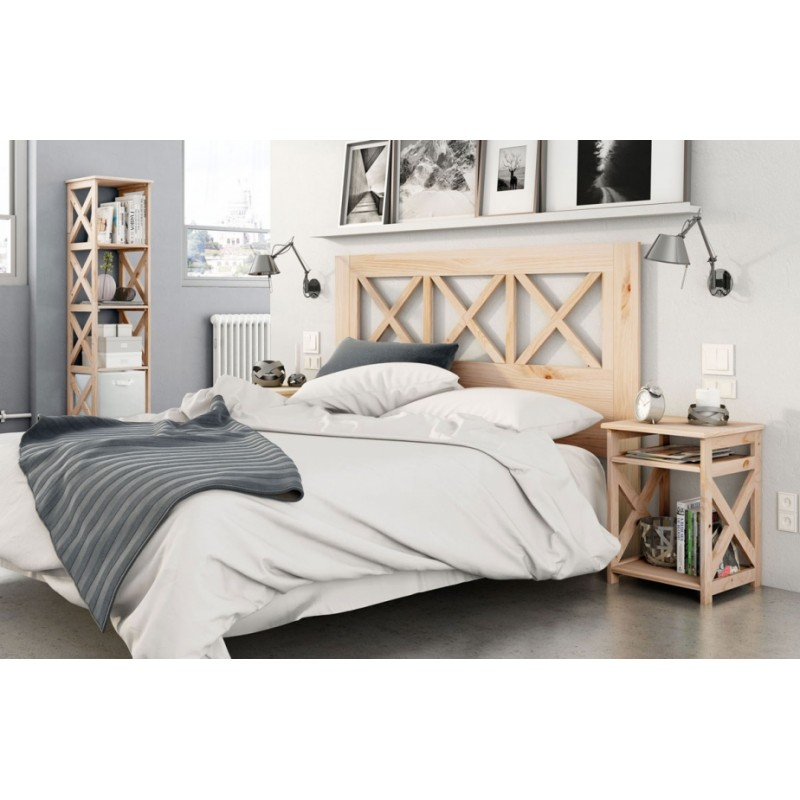 t te de lit en pin massif infiniti 4 espace decormat. Black Bedroom Furniture Sets. Home Design Ideas