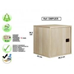 Étagère 1 cube avec porte tableau à craie en pin massif