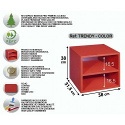 Bloc 2 tablettes verni rouge - TRENDY-COLOR