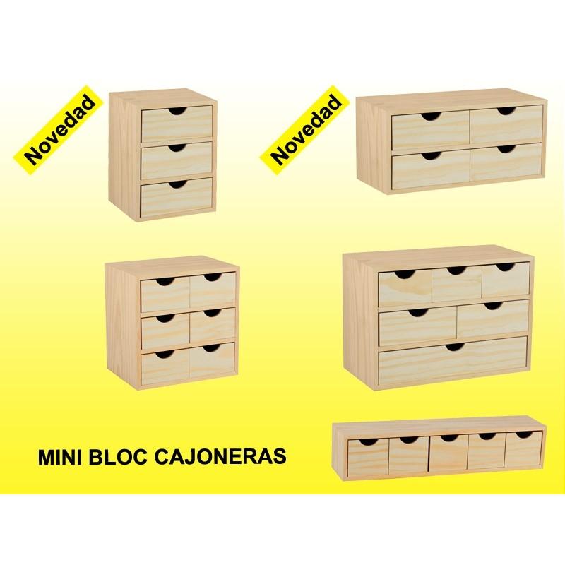 Bloc 5 Tiroirs En Pin Bloc 5x1 Espace Decormat