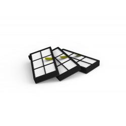 Filtres aspirateur ACC800 - Pack 3 filtres (iRobot série 800)